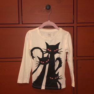 Halloween cat themed. GAP girls long sleeve shirt.